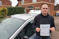 Well done to Csaba on passing his driving test today on the first attempt in Kettering!  Stay safe!  Congratulations from Péter and the team at Three Shires Driving Centre Ltd!