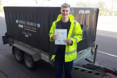 Huge congratulations to Jack who passed his B+E towing test today in Leighton Buzzard.  Just a day and a half of training was all it took Jack to pass on the 1st attempt. Well Done,  Drive Safe  James and the team at Three Shires Driving Centre