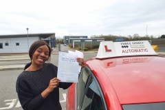 Well done to Ivy on passing her driving test today in Kettering!  Stay safe!  Congratulations from Péter and the team at Three Shires Driving Centre Ltd!