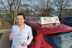Well done to Maricica on passing her driving test today on the first attempt in Kettering!  Stay safe!  Congratulations from Péter and the team at Three Shires Driving Centre Ltd!