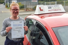Well done to Maxine on passing Her driving test today on the first attempt in Kettering! Stay safe! Congratulations from Péter and the team at Three Shires Driving Centre Ltd!