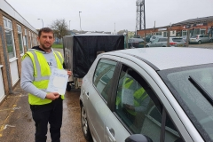 Well done to Catalin on passing his car and trailer driving test today on the first attempt in Leicester! Stay safe! Congratulations from Péter and the team at Three Shires Driving Centre Ltd!