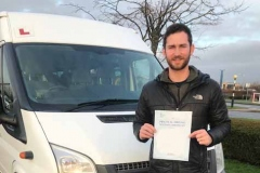 Big congratulations to Liam from Caroline Chisholm School, Northampton,  passing your D1 minibus test 1st attempt. Great driving, well done from Neville and Three Shires Driving Centre ltd.