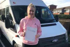 Very well done Katie of Wixams school on passing your D1 minibus test 1st attempt with only 1 driving fault. Great result. Best wishes from Neville and Three Shires Driving Centre Ltd