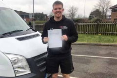 Great 1st time pass Ryan Walsh from Brooke Weston Academy, Corby. Easy couple of training sessions having passed your car test with us too  Congratulations from Neville and Three Shires Driving Centre Ltd