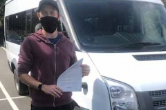 Congratulations to Gareth Jell of Castle Newnham School, passing your D1 minibus test easily first attempt. Great lessons. Well done from Neville and Three Shires Driving Centre Ltd