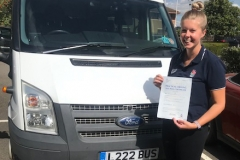 Congratulations to Amy Owen of Castle Newnham School on passing your D1 minibus test first attempt with only one driving fault and one reverse fault, brilliant result. Well done from Neville and Three Shires Driving Centre Ltd