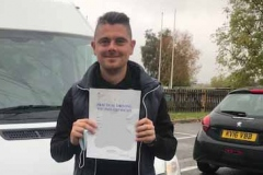 Congratulations Andrew  of Castle Newnham School Bedford, passing your D1 minibus test 1st attempt today. Great result. From Neville and Three Shires Driving Centre Ltd