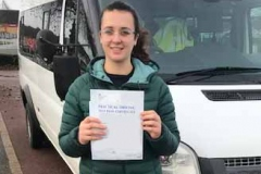 Very well done Catherine of  Hills Road Sixth Form Cambridge on passing your D1 minibus test first attempt with only 1 driving fault. Brilliant driving. Best wishes from Neville and Three Shires Driving Centre Ltd