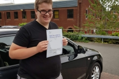 Well done to Botond on passing his driving test today on the first attempt in Rugby!  Stay safe!  Congratulations from Péter and the team at Three Shires Driving Centre Ltd!