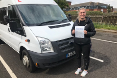 Congratulations Charlotte from Bishop Stopford School. Great 1st attempt pass on your D1 minibus test. A very good driver. Best wishes from Neville and Three Shires Driving Centre Ltd.