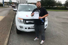 Huge congratulations to Adam Smith on passing your B+E towing test today 1st time with NO driving faults, perfect drive. Was also a great days training, enjoy your caravan and happy holidays. From Neville and Three Shires Driving Centre Ltd.