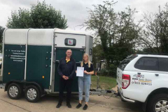 Huge congratulations to Tabby from Big Bear Trailers and outdoor, Oundle. First attempt pass at your B+E test. Good couple of days training and great pass. From Neville & George. Three Shires Driving Centre Ltd