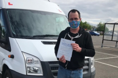 Congratulations to Jon on passing your D1 minibus test first attempt today. From Neville and Three Shires Driving Centre Ltd