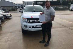 Congratulations Marcus on passing your towing test with only 1 fault. Happy holidays in your caravan. From Neville and Three Shires Driving Centre Ltd.